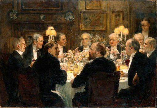 An Octave for Mr Ernest Hart at Sir Henry Thompson's House | Solomon Joseph Solomon | Oil Painting