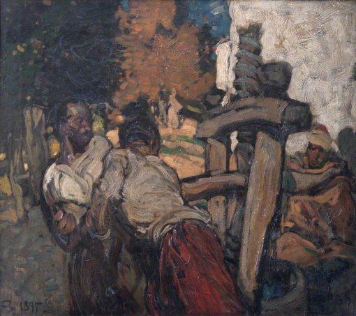 The Olive Press   Sir Frank William Brangwyn   Oil Painting