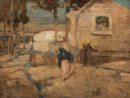 The Shrine at the Well | Sir Frank William Brangwyn | Oil Painting