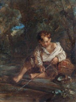 Boy Fishing | William James Muller | Oil Painting