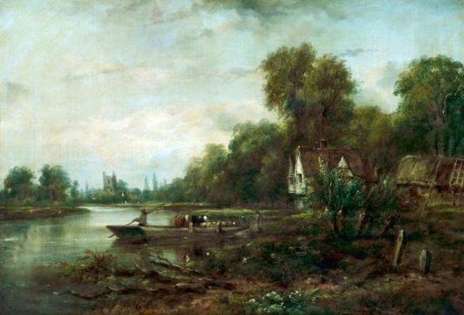 A Thames Ferry | Frederick Waters Watts | Oil Painting