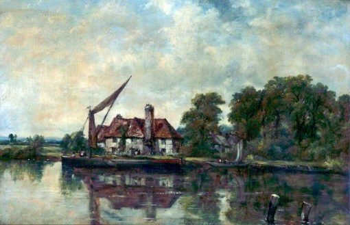 River Scene with Cottage | Frederick Waters Watts | Oil Painting