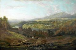 Landscape (Mountain and Cows) | Richard Wilson