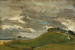 View of the Downs   British School th Century   Unknown   Oil Painting