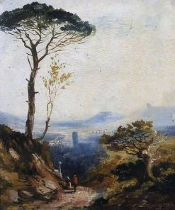 Landscape with a Pine Tree | William James Muller | Oil Painting