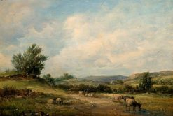 In the Vale of Neath   Alfred Vickers   Oil Painting
