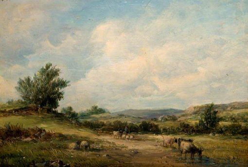 In the Vale of Neath | Alfred Vickers | Oil Painting