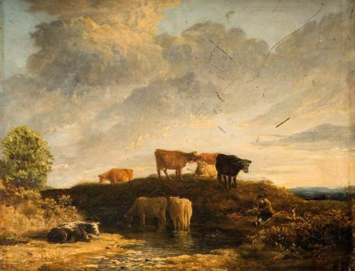 Cows at a Watering Place   James Stark   Oil Painting