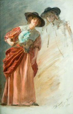 A Woman with a Fan