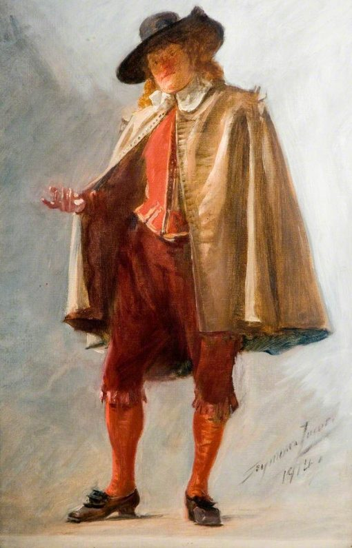 Standing Man (study for 'The Flight of the Five Members') | John Seymour Lucas | Oil Painting