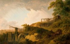The Watershot Wheel | Julius Caesar Ibbetson | Oil Painting