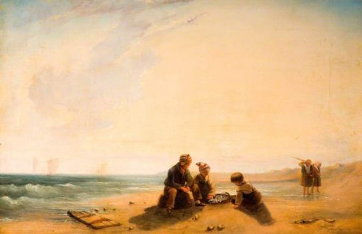 French Coast Scene   Richard Parkes Bonington   Oil Painting
