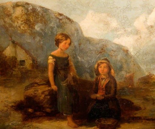 Children Gathering Seaweed | William Collins | Oil Painting