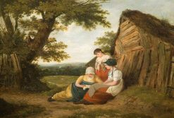 Landscape with Three Figures | William Collins | Oil Painting
