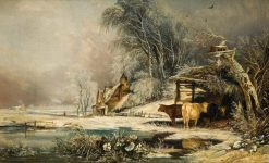 A Lowering Day in Winter | William James Muller | Oil Painting