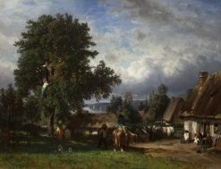Apple Harvest in Normandy | Constant Troyon | Oil Painting