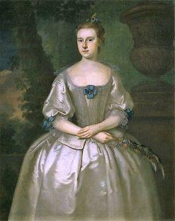 Hannah Babcock (Mrs. John Bours)   Joseph Blackburn   Oil Painting