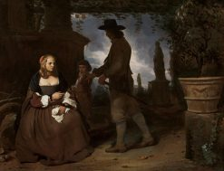 A Young Couple and a Boy in a Garden | Michiel Sweerts | Oil Painting