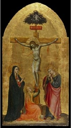Christ Crucified with the Virgin