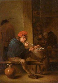 The Smoker   David Teniers II   Oil Painting