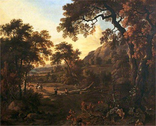 Wooded Landscape   Jan Wijnants   Oil Painting