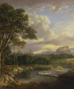 View of the City of Edinburgh   Alexander Nasmyth   Oil Painting