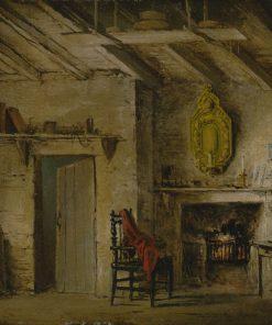 Stage Design for Heart of Midlothian; Deans' Cottage | Alexander Nasmyth | Oil Painting