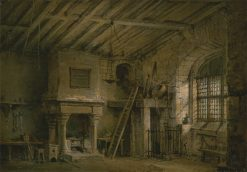 Stage Design for Heart of Midlothian; The Tolbooth   Alexander Nasmyth   Oil Painting