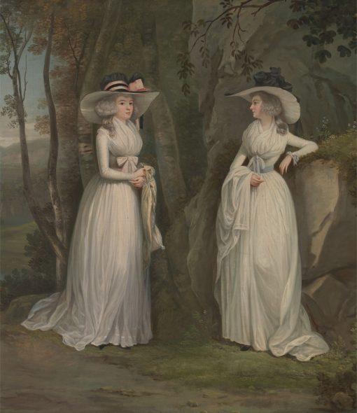 Eleanor and Margaret Ross   Alexander Nasmyth   Oil Painting