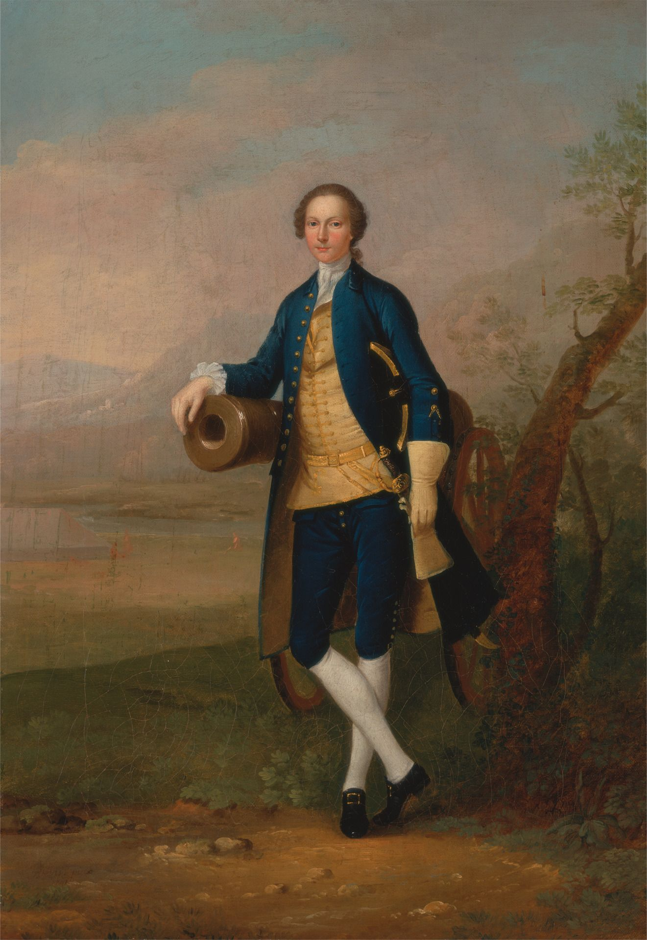 Gentleman with a Cannon | Arthur Devis | Oil Painting
