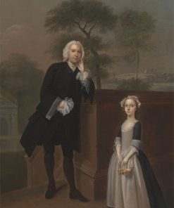 An Unknown Man with His Daughter | Arthur Devis | Oil Painting
