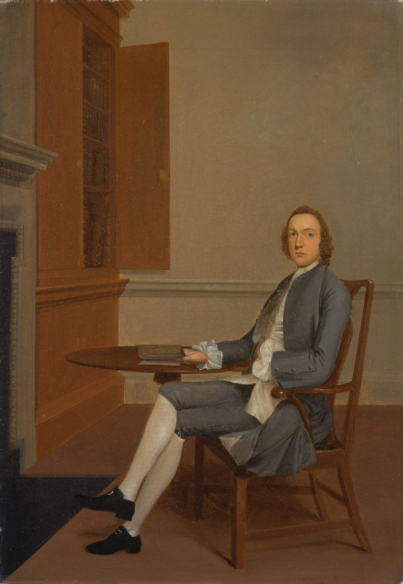 An Unknown Man Seated at a Table | Arthur Devis | Oil Painting