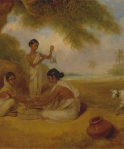 Grinding Corn | Arthur William Devis | Oil Painting