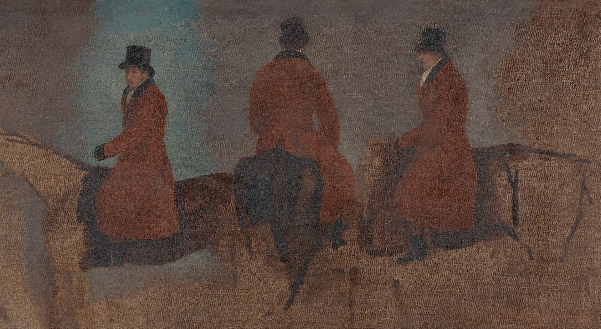 Studies of Riders in the Hunting Field | Benjamin Marshall | Oil Painting