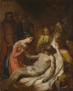 Study of the Lamentation on the Dead Christ | Benjamin West | Oil Painting