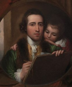 The Artist and His Son Raphael | Benjamin West | Oil Painting