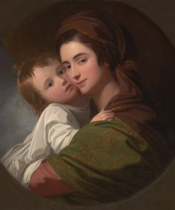 The Artist's Wife Elizabeth and Their Son Raphael | Benjamin West | Oil Painting