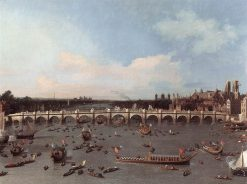 Westminster Bridge from the north on Lord Mayor's Day | Canaletto | Oil Painting