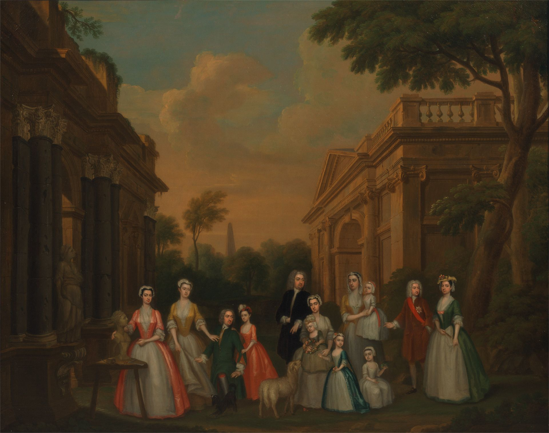 The Watson-Wentworth and Finch Families | Charles Philips | Oil Painting