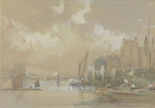 Lambeth   David Roberts   Oil Painting