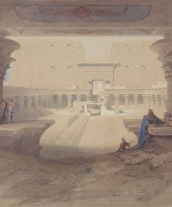 From under the Portico of the Temple of Edfu