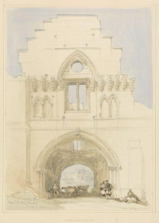 Aberothock Abbey | David Roberts | Oil Painting