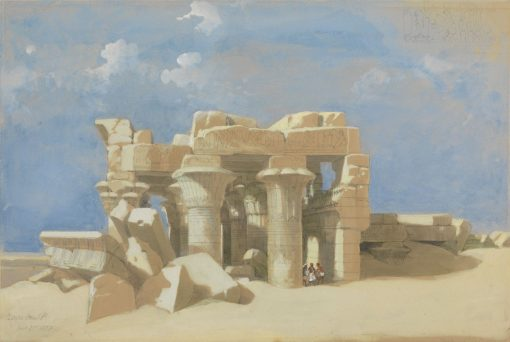 View of Kom Ombo   David Roberts   Oil Painting