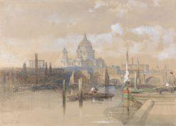 St Paul's | David Roberts | Oil Painting