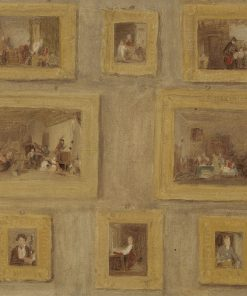 A Sketch of Eight Paintings Framed and Hanging on a Wall | David Wilkie | Oil Painting
