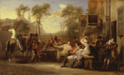 Chelsea Pensioners Receiving the Gazette Announcing the Battle of Waterloo | David Wilkie | Oil Painting