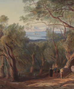 Corfu from Santa Decca | Edward Lear | Oil Painting