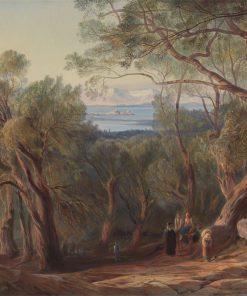 Corfu from Santa Decca | Edward Lear | Oil Painting