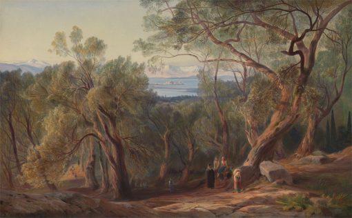 Corfu from Santa Decca   Edward Lear   Oil Painting
