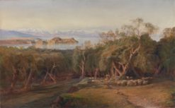 Corfu from Ascension | Edward Lear | Oil Painting